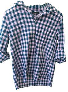 J.Crew Gingham Top blue and lilac