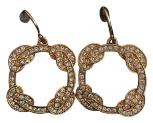 Coach Coach Gold Knot Design Drop Earrings