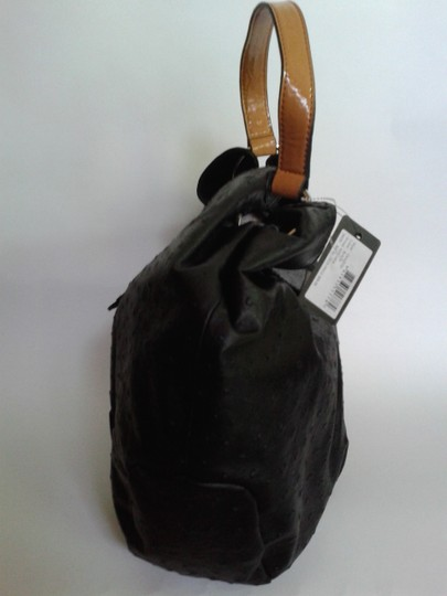 Guess Ostrich Satchel in black Image 1