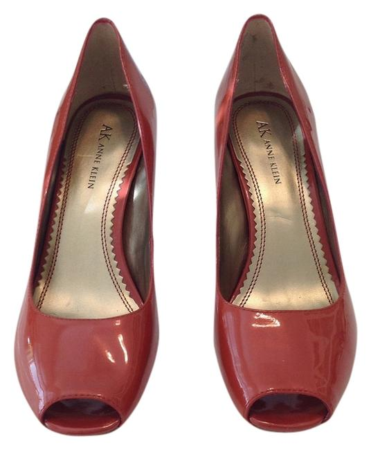 Item - Pearl Orange Peep Toe Pumps Size US 8.5 Regular (M, B)