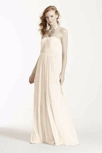 David's Bridal Ivory Versa Convertible Mesh Dress