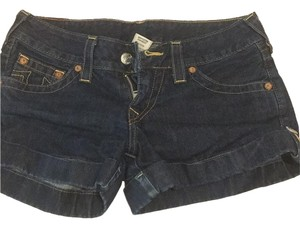 True Religion Cuffed Shorts Denim