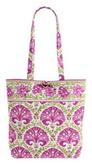 Vera Bradley Hand Purse New New With Tags Book Baby Beach Shop Shopping Shopper Tote in Julep Tulip