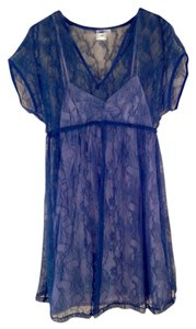 Egg Blue Lace Overlay Dress By Egg by Susan Lazar Maternity
