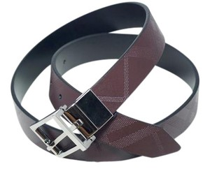 Burberry Burberry Box Embossed Reversible Leather Belt