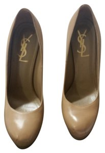 Saint Laurent High Heels Ysltribute Luxury TAN Platforms
