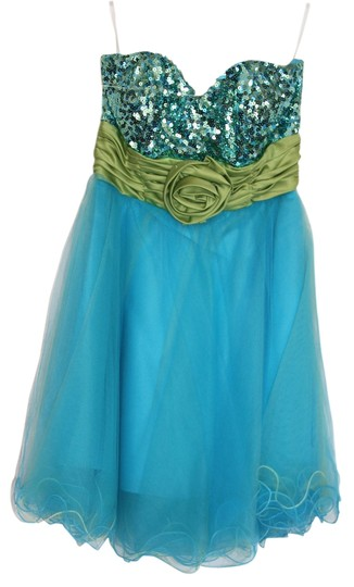 a14ff7d9d84 on sale Xtraordinary Turquoise Green Homecoming Dress - 63% Off Retail