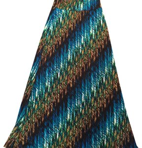 Lily White Maxi Skirt Blue - Multicolors