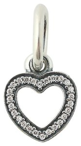 PANDORA Pandora Symbol Of Love Charm - Sterling Silver 791304cz Clear Cz Heart