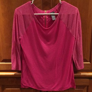 Aerie Sparkle Gold T Shirt Pink
