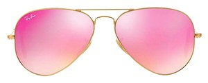 """Ray-Ban RAY-BAN Sunglasses RB 3025 Aviator GOLD METAL with PINK FLASH MIRRORED LENSES """"FREE 3 DAY SHIPPING"""""""
