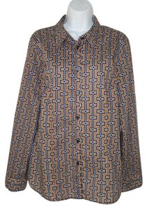 MICHAEL Michael Kors Cotton Career Geometric Logo Button Down Shirt