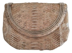Judith Leiber Python Formal Beige Clutch
