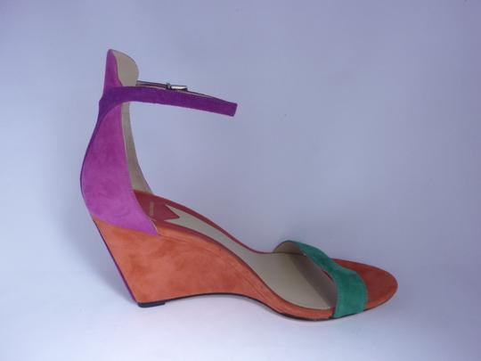 B Brian Atwood Suede Leather Multi Sandals