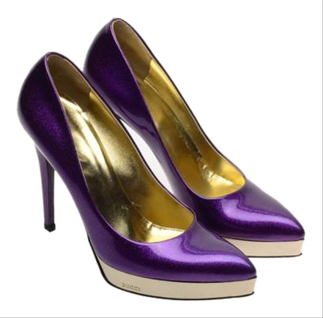Item - Purple By Tom Ford. Gold And Platforms Size US 8 Regular (M, B)