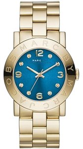 Marc Jacobs Marc by Marc Jacobs MBM3303 Amy Blue Dial Gold-tone Ladies Watch