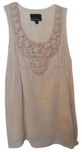 Cynthia Rowley Medium Crinkle Sheer Anthropologie Lined Top Pale Peach