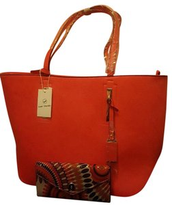 VIETA Fashion Wallet Faux Leather Tote in Coral