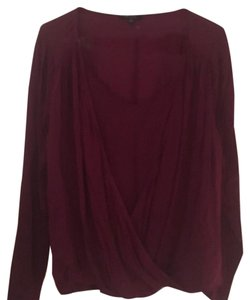 Ella Moss Top Burgundy