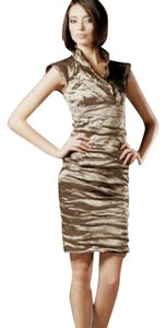Nicole Miller Metallic Gathered Dress