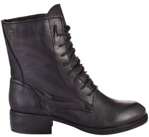 Sam Edelman Leather Distressed Combat Black Boots