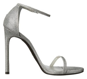 Stuart Weitzman Nudist Silver Sandals