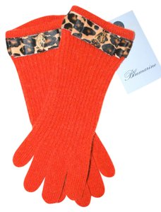 Blumarine NWT BLUMARINE ORANGE KNIT LEOPARD STRAP SIGNATURE B GOLD SIGN