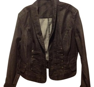 New York & Company Co. Denim Black Womens Jean Jacket