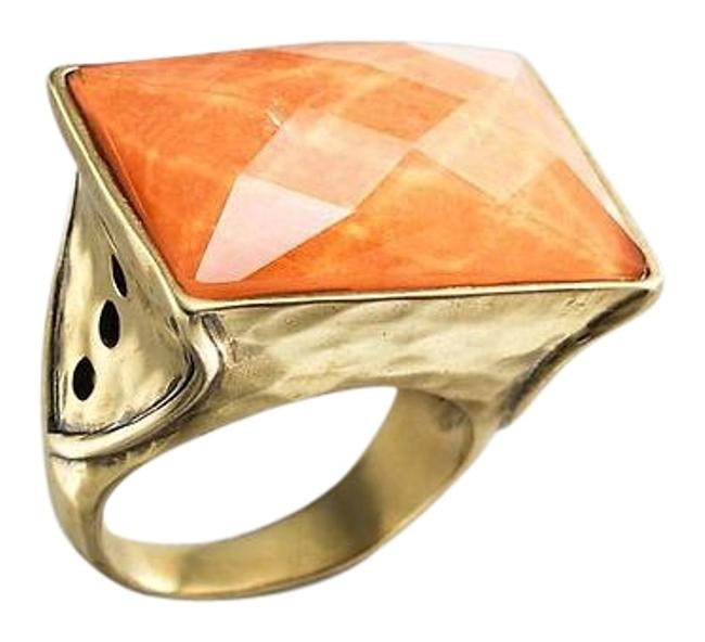 Item - Orange Sunset Statement Krr0127 Size 8 Ring