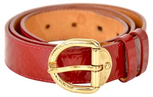 Louis Vuitton Red Monogram Vernis Patent Leather Ceinture Belt 32