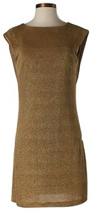 BCBGMAXAZRIA Metallic Scoop Back Dress
