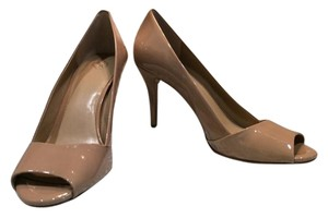 Ann Taylor Nude Patent Leather Pumps