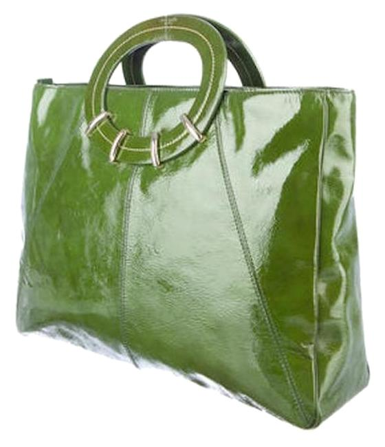 Item - New York Handle Green Patent Leather Tote