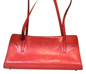 Satchel in Monsac Coral Leather