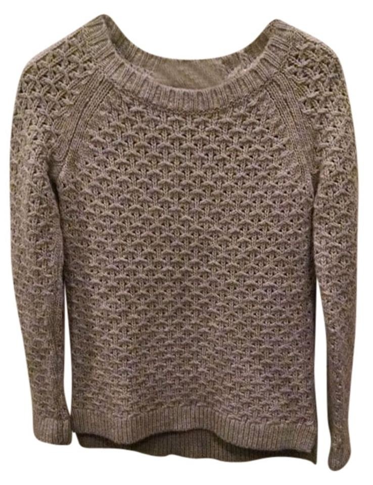 Banana Republic Star-stitch Crew Knit Italian Yarn Size Xs Gray Sweater 0bf0bff32