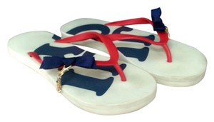 Juicy Couture Red/White/Blue Sandals