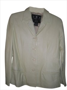 INC International Concepts Leather pastel green Leather Jacket