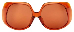 Linda Farrow for The Row Linda Farrow x The Row Collaboration Oversized Red Leather Sunglasses
