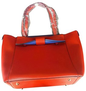 Isa Belle Bow Blue Multiple Tote in Red