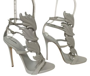 Giuseppe Zanotti Wing Coline Suede New Never Worn GREY Pumps