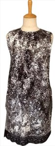 Lisa Nieves Formal Short Pencil Night Out Prom Party Evening Sleeveless Sleek Lace Trim Dress