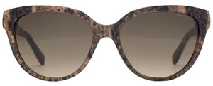 Jimmy Choo NEW Jimmy Choo Odette Brown Python Reptile Cat Eye Sunglasses