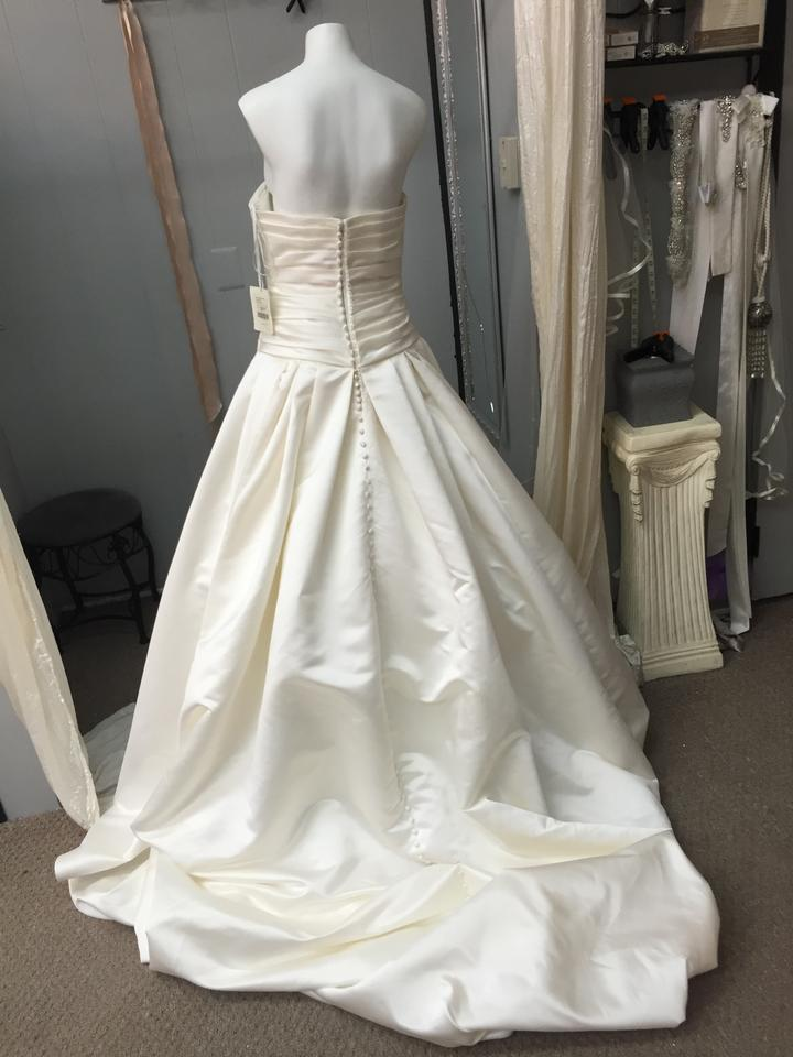 Pronovias ivory duchess satin georgia traditional wedding for Wedding dresses in ga