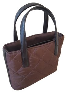 DKNY Tote in Chocolate Brown quilted