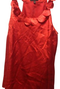 The Limited Color. Style Ruffle Great Fit Reddish Orange Halter Top