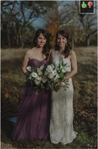 BHLDN Soft Plum Tulle Annabelle Formal Bridesmaid/Mob Dress Size 0 (XS)