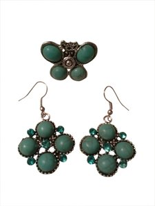 Sale! Turquoise Ring & Earrings Matching Set
