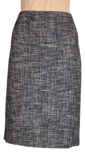 Theory Frieda C Tweed Pencil Pencil Skirt Charcoal Grey