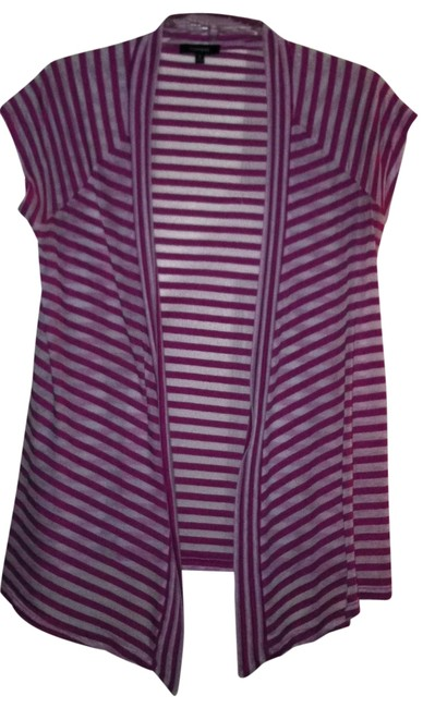 Preload https://item3.tradesy.com/images/express-pink-with-white-stripes-cardigan-size-petite-6-s-177802-0-0.jpg?width=400&height=650
