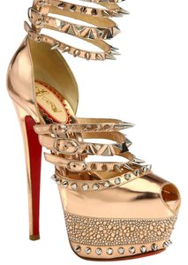 Christian Louboutin Metaloc rose gold Platforms